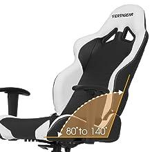 flexible backrest of tsm gaming chair