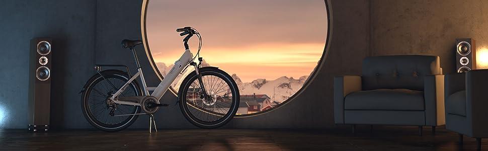 Legend eBikes Milano Bicicleta Eléctrica Urbana con Rueda de 26 Pulgadas, Batería 36V 14Ah (504Wh), Blanco Artic: Amazon.es: Deportes y aire libre