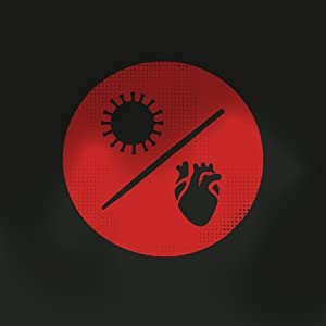 stylized icon of coronavirus and heart