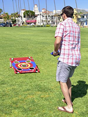 foldable portable cornhole boards game set for kids and adults fun outdoor lawn game sports safe kid