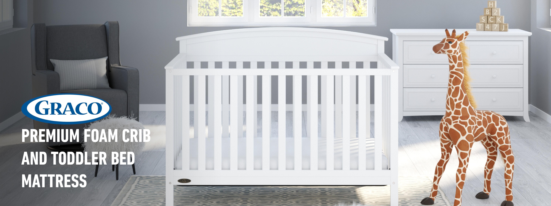 Amazon Com Graco Premium Foam Crib Amp Toddler Bed