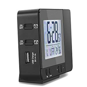Deofde Despertador Proyector, Reloj Despertador Digital con ...