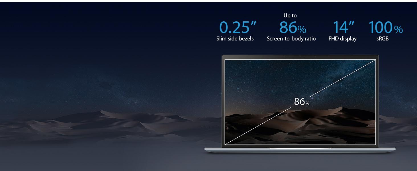 "ASUS ZenBook 14 Ultra Thin & Light Laptop, 4-Way NanoEdge 14"" Full HD,  Intel Core I5-8265U, 8GB RAM, 256GB Nvme PCIe SSD, Wi-Fi 5, Windows 10,"