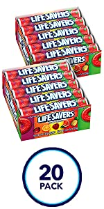 LIFE SAVERS 5 Flavors Hard Candy Rolls