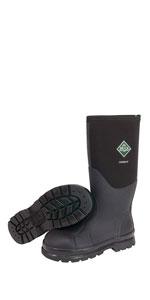 3ebffce62d2 Amazon.com | Muck Boots Chore Classic Tall Steel Toe Men's Rubber ...