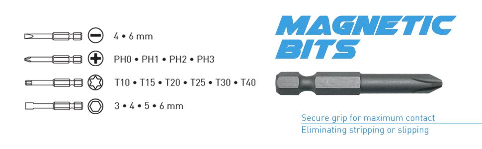Magnetic bits