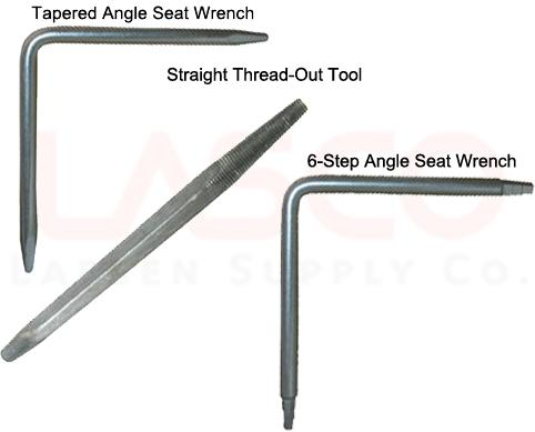 LASCO 13-2111 Metal Seat Removal Set, 3 Removal Tools, Plus Ratchet ...