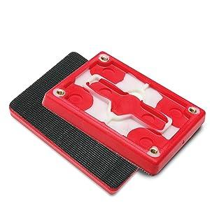 3M Hookit Pad 20433 3 in x 4 in x 1//2 in Red Foam