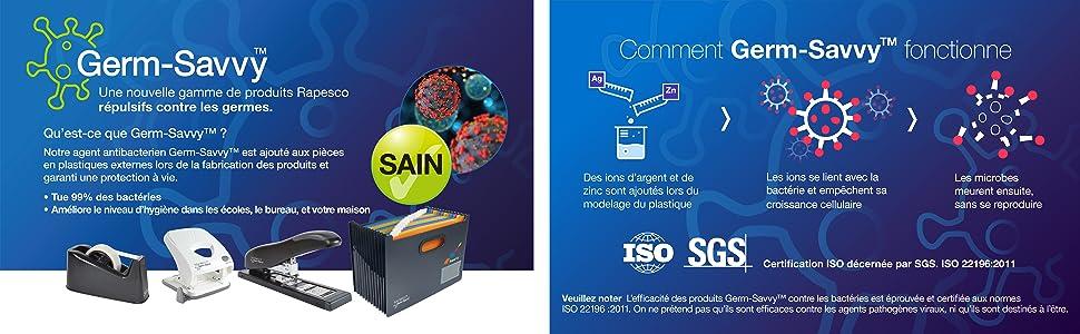 1637 Germ-Savvy Porte-Document Porte-Bloc Antibactérien Réutilisable  Blocs-notes Cerifiés FSC A5