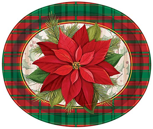 Poinsettia Plaid Holiday Oval Paper Plates 8ct · Square Red Paper Plates 14ct · Square Green Paper Cake Plates 16ct · 9oz Poinsettia Plaid Holiday Party ...  sc 1 st  Amazon.com & Amazon.com: Poinsettia Plaid Holiday Oval Paper Plates 8ct: Kitchen ...