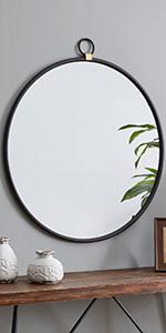 round mirror, modern, minimalist