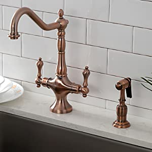Kingston Brass Ks8771dlls Concord Kitchen Faucet With 8 Plate Without Sprayer Polished Chrome 8 1 2 Spout Reach Touch On Kitchen Sink Faucets Amazon Com