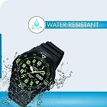 Casio Enticer Analog Black Dial Men's Watch - MRW-200H-3BVDF A743