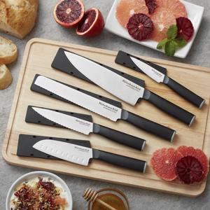 kitchenaid classic cutting board knives knife block set