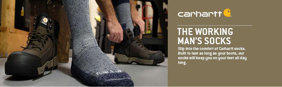 carhartt men's cushioned crew work socks