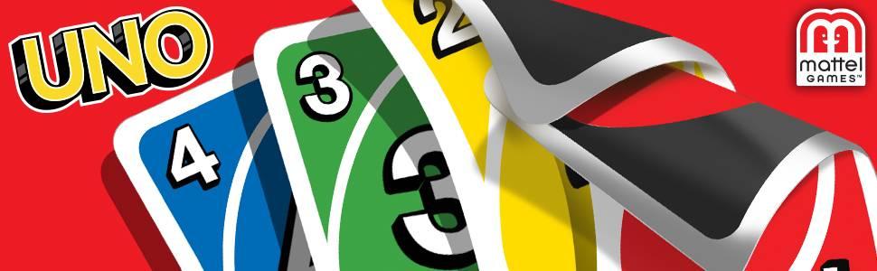 Mattel Games W2087 - UNO Kartenspiel, geeignet für 2 - 10 Spieler, Spieldauer ca. 15 Minuten