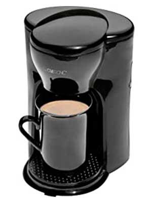 Clatronic KA 3356 Cafetera eléctrica pequeña de goteo automática, capacidad de 1 taza café, 300 W, 1 Cups, plástico, Negro: Clatronic: Amazon.es: Hogar