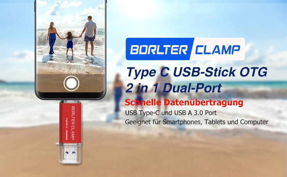 Borlterclamp Type C Usb Stick 32gb Otg 2 In 1 Computer Zubehör