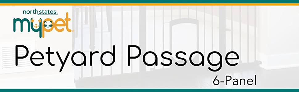 Petyard Passage 6-Panel, pet containment, play yard, North States