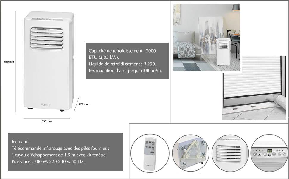 Clatronic Climatiseur Weiss Amazon Fr Cuisine Maison