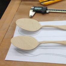 handmade spoons cutlery dinnerware wood 18/0 high quality stain resistant spoons spoon set dessert