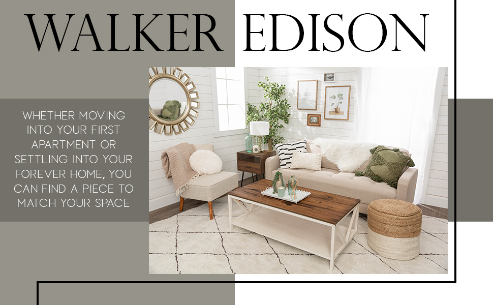 Walker Edison Furniture living room kitchen tv stand coffee side table bunk bed patio dining