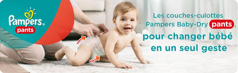 Pampers baby dry pants couches taille 5 11 18 kg junior jumbo pack x64 culottes - Couches culottes pampers ...