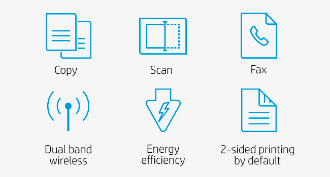 print mono copy scan fax dual band wireless energy efficiency 2-sided printing by default