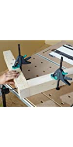 Abrazadera de mesa de trabajo, abrazadera de superficies, dispositivo de sujeción rápida, abrazadera