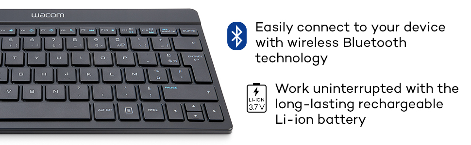 c79e3e48a60 Amazon.com: Wacom Cintiq Companion Bluetooth Wireless Keyboard ...