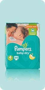 Pampers baby dry couches taille 3 5 9 kg midi mega pack x100 couches - Reduction couches pampers a imprimer ...