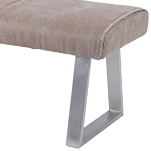Amazon Com Milan Bench Gray Table Benches