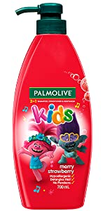 Palmolive Kids 3 in 1 Shampoo, Conditioner & Body Wash Trolls Merry Strawberry
