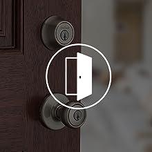 smartkey security; kwikset; door lock; keys;deadbolt;door hardware;door lock;satin nickel;handleset
