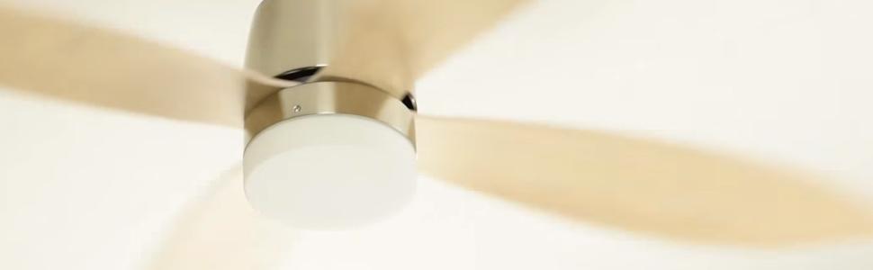 energiespar deckenventilator stratus mit beleuchtung und fernbedienung 132 cm runde fl gel. Black Bedroom Furniture Sets. Home Design Ideas