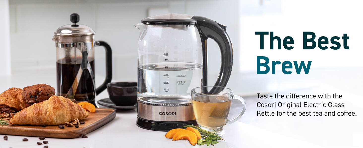 taste the best tea and coffee with Cosori electric kettle