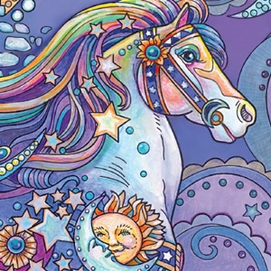 dream horse coloring