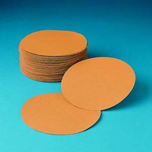 3M 255L P80 Grit 6 Diameter Aluminum Oxide Gold Film Disc with Hookit Backing