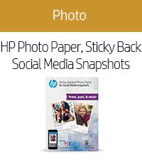HP Photo Paper, Sticky Back Social Media Snapshots