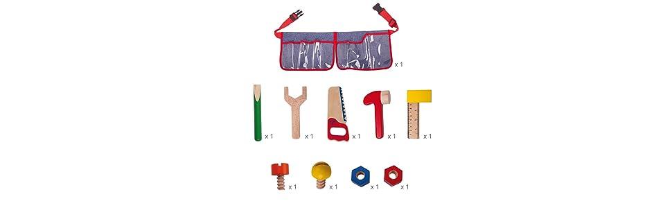 Bigjigs Toys Carpenter's Tool Belt