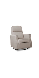 delta children upholstered glider swivel rocker chair baby nursery furniture ...