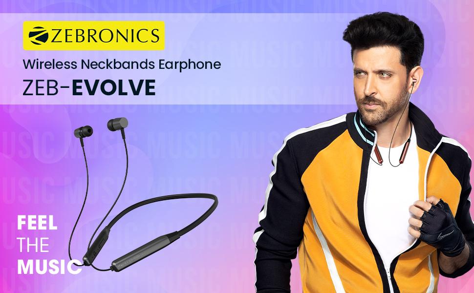 neckband earphone,wireless neckband earphone,in ear wireless earphone,zebronics wireless earphone