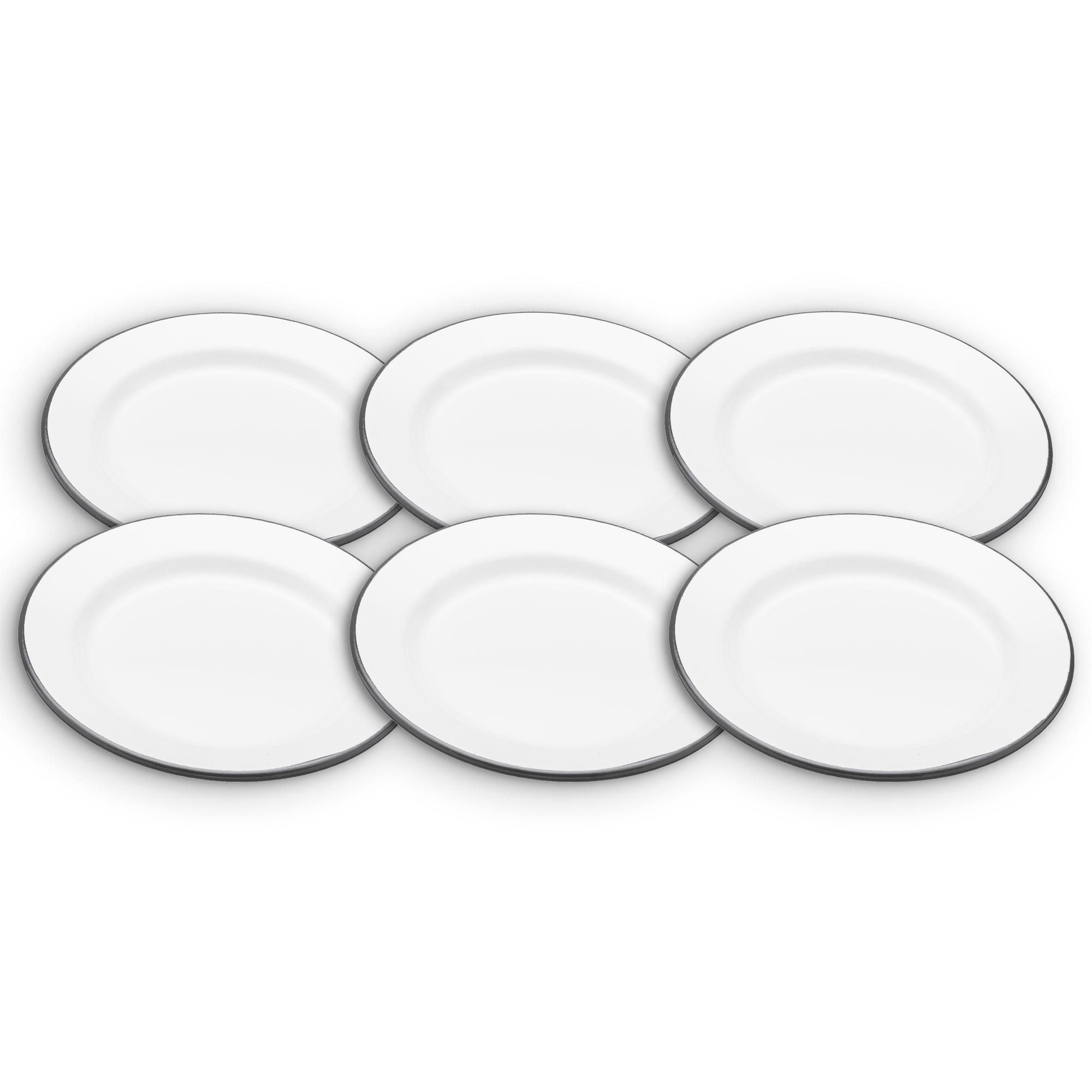 KitchenCraft Living Nostalgia Enamel Breakfast Plates (Set of 6)  sc 1 st  Amazon UK & KitchenCraft Living Nostalgia Enamel Breakfast Plate 24 cm (9.5 ...