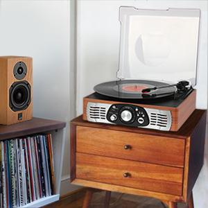 1byone 3 Speed Stereo Turntable