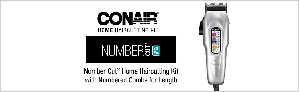 Conair hair cutter; Conair hair trimmer; home hair cutting kit; cordless hair trimmer