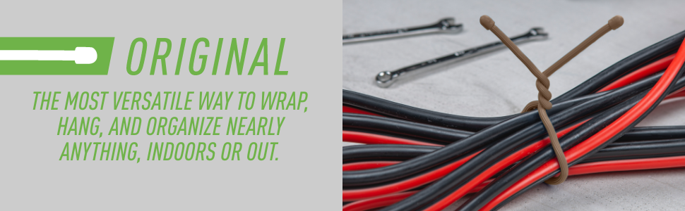 Gear Tie Original the most versatile way to wrap hang and organize nearly anything indoors or out