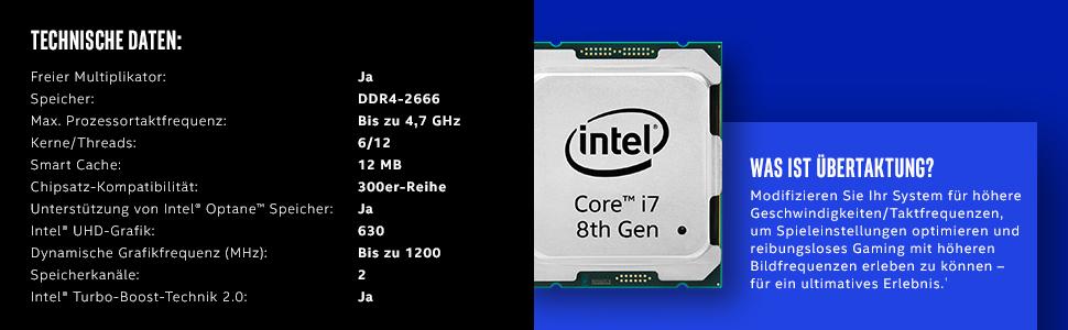 Intel Core I7 8700k 3 70ghz Lga1151 12mb Cache Tray Cpu Computers Accessories