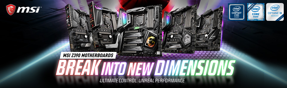 MSI Intel Z390 Gaming Motherboards