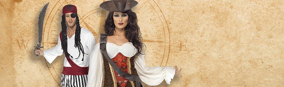 Smiffys - Disfraz de capitán pirata para hombre, talla M ...
