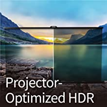 W1720's projector-optimized HDR offers greater brightness and contrast range to show video details